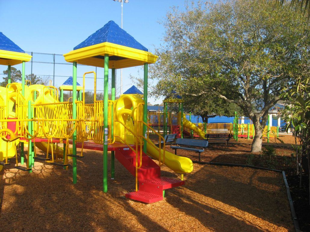 Yellow, Blue, and Red Playground