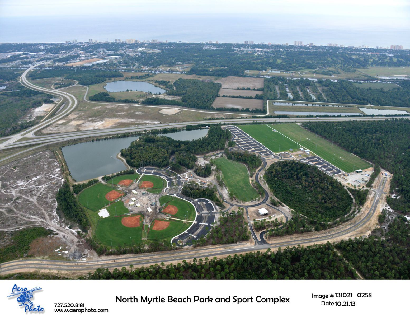 Aerial View of the North Myrtle Beach Park and Sports Complex